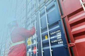 Containerstau   Containerpacken